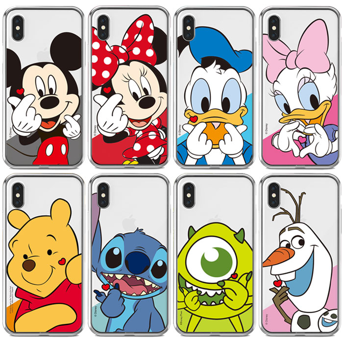 [Disney Finger Heart Clear ディズニー フィンガー ハート クリアケース] スマホケース iPhoneXR iPhone10r iPhoneXsMax iPhone10sMax iPhoneXS iPhone10s iPhoneX iPhone10 iPhone8 iPhone7 iphone7plus iphone8plus アイフォン アイホン プラス【】