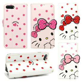 [Hello Kitty Dot Standing ハローキティ ドット スタンディング フリップカバー] 吸盤 フリップ 手帳型 iPhoneXR iPhone10r iPhoneXsMax iPhone10sMax iPhoneXS iPhone10s iPhoneX iPhone10 iPhone8 iPhone7 iphone7plus iphone8plus アイフォン アイホン プラス【】