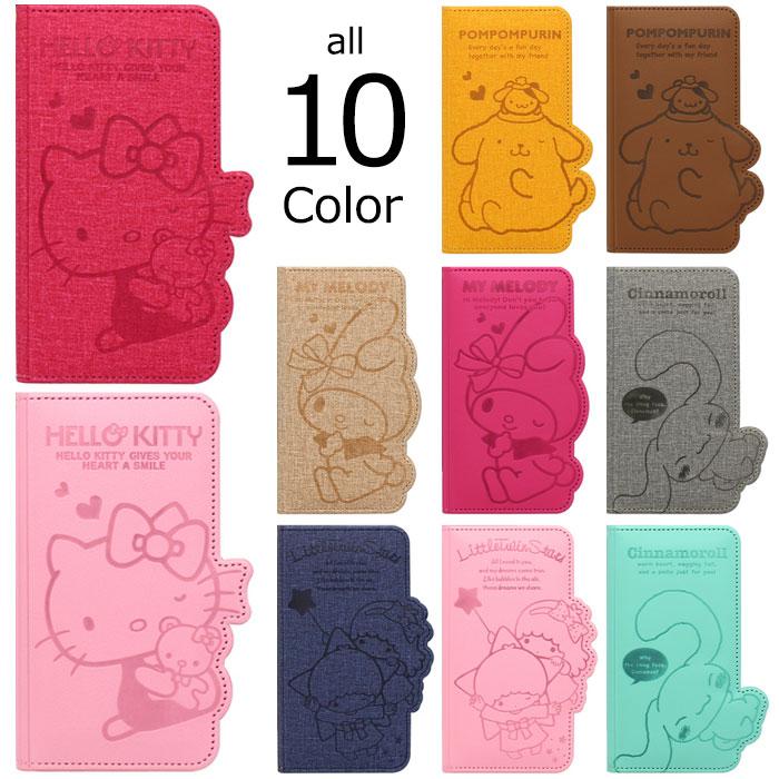 [Sanrio Characters Flip サンリオ キャラクターズ フリップケース] 吸盤付き 手帳型 iPhoneX iPhone10 iPhone8 iPhone7 iPhoneSE iPhone6s iPhone5s iphone6plus iphone6splus iphone7plus iphone8plus アイフォン アイホン プラス カード収納