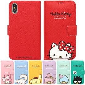[Sanrio Characters Half Diary サンリオ キャラクターズ ハーフ ダイアリーケース] 磁石留め 手帳型 iPhone 11 11Pro 11ProMax X XS XSMax XR 8 8Plus 7 7Plus Pro ProMax iPhoneXR iPhoneXsMax iPhoneXS iPhoneX アイフォン アイホン【】