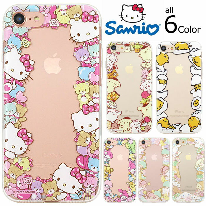 [Hello Kitty Friends Circle Jelly ハローキティ フレンズ サークル ジェリー] スマホケース Galaxy S9 SC-02K SCV38/S9+ S9plus S9プラス SC-03K SCV39/S8 SC-02J SCV36/S8+ S8plus S8プラス SC-03J SCV35/Note8 SC-01K SCV37 ギャラクシー 透明 クリア【】
