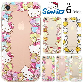 [Hello Kitty Friends Circle Jelly ハローキティ フレンズ サークル ジェリー] スマホケース Galaxy S7 edge SC-02H SCV33/S6 SC-05G/S6 edge SC-04G SCV31 404SC/S5 SC-04F SCL23 ギャラクシー 透明 クリア【】