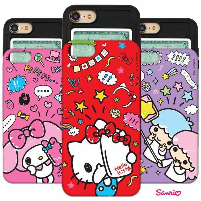 [Hello Kitty Friends Selfie Slide Card Bumper ハローキティ フレンズ セルカ スライド カード バンパーケース] Galaxy S9 SC-02K SCV38/S9+ SC-03K SCV39/S8 SC-02J SCV36/S8+ S8 SC-03J SCV35/Note8 SC-01K SCV37 ギャラクシー【】