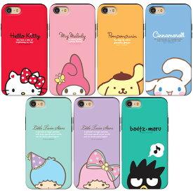 [Sanrio Characters Half Slide Card Bumper サンリオ キャラクターズ ハーフ スライド カード バンパーケース] スマホケース iPhone 11 11Pro 11ProMax X XS XSMax XR 8 8Plus 7 7Plus 6s 6sPlus 6 6Plus iPhoneXR iPhoneXsMax iPhoneXS iPhoneX アイフォン アイホン【】