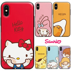 [Sanrio Characters Mirror Door Card Bumper サンリオ キャラクターズ ミラー ドア カード バンパーケース] iPhoneXR iPhone10r iPhoneXsMax iPhone10sMax iPhoneXS iPhone10s iPhoneX iPhone10 iPhone8 iPhone7 iphone7plus iphone8plus アイフォン アイホン プラス【】