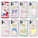 [Sanrio Characters Happy Clear Jelly サンリオ ハッピー 透明 ジェリーケース] iPhone 12 12Pro 12ProMax 12mini Pro Max mini ProMax アイフォン アイホン トゥ エル ヴ ウェル ブ プロ マックス ミニ【】