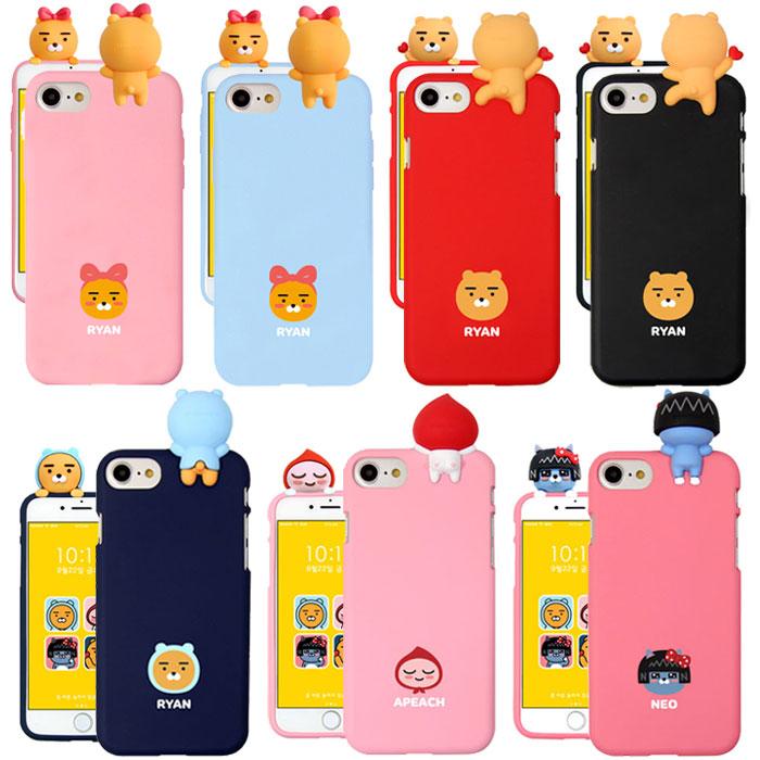 [KAKAO Friends Mascot case カカオフレンズ フィギュア ケース] スマホケース iPhoneX iPhone10 iPhone8 iPhone7 iPhone6s iPhone 6 6s 7 8 Plus X 10 iphone7plus iphone8plus アイフォン アイホン プラス KAKAO TALK カカオトーク【】