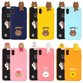 [LINE FRIENDS Mascot Soft ラインフレンズ マスコット ソフトケース] スマホケース iPhoneXR iPhone10r iPhoneXsMax iPhone10sMax iPhoneXS iPhone10s iPhoneX iPhone10 iPhone8 iPhone7 iPhone 7 8 Plus X 10 XS 10s Max XR 10r アイフォン アイホン プラス【】