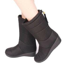 送料無料 スノーブーツ レディース 防水 撥水 防滑 おしゃれ 滑らない ウインターブーツ 長靴 雪靴 防寒ブーツ 裏起毛 中綿 ダウンブーツ