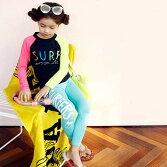 キッズ水着水着ラッシュガードスイムウェアウエットスーツウェットスーツ上下セットセットアップ子供用子ども女の子男の子海水浴プール水遊び長袖紫外線対策日焼け対策水泳夏スクール水着小学生