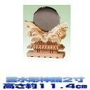 神具 雲水彫神鏡 2寸 大きさの目安:高さ11.4cm 神前用 神棚用 おまかせ工房
