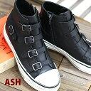 【9/26再入荷】 【日本正規取扱店】 ASH Virgin Black スニーカー 厚底 【インヒール】 アッシュ レザー 靴 レディー…