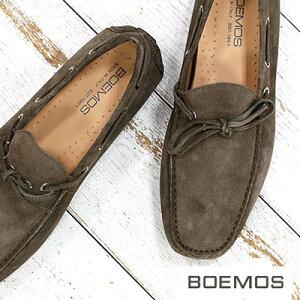 【ラスト1点!43インチのみ】【期間限定特別価格】 ボエモス メンズ スリッポン 靴 BOEMOS 3005 ドライビングシューズ VIVEL KARIBU スエード 【made in ITALY】