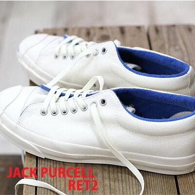 8/20新作入荷 CONVERSE JACK PURCELL RET2 コンバース ジャックパーセル RT2 復刻 ホワイト/ブルー メンズ