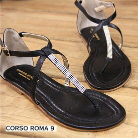 【あす楽】 【 セール sale 】 CORSO ROMA 9 1024 PELLE コルソローマ サンダル 黒 靴 【 FABIO RUSCONI ファビオ ルスコーニ に並ぶ人気 】