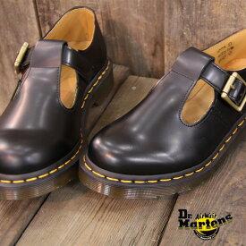 【★国内正規品★】【あす楽】 ドクターマーチン レディース シューズ ストラップ Dr.Martens 14852001 CORE POLLEY T-BAR BLACK コア ポーリー 靴  【マーチン 8ホール 3ホール に並ぶ人気】