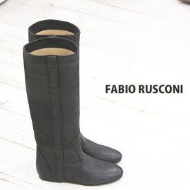 【あす楽】 ◇人気のビンテージ仕上げ◇ FABIO RUSCONI ロングブーツ boots 98801 ファビオルスコーニ ブーツ ブラック 【ファビオ ルスコーニ】