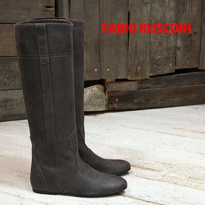 ◇人気のビンテージ仕上げ◇ FABIO RUSCONI boots 98801 ファビオルスコーニ ロングブーツ グレー 【 ファビオ ルスコーニ イタリア製 ブーツ 】