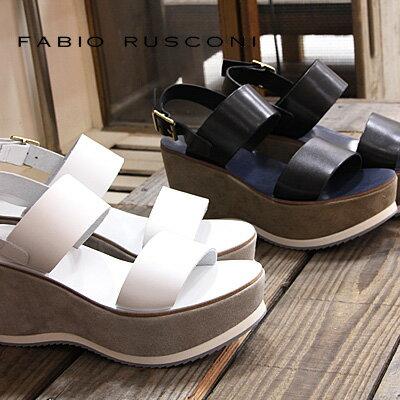 【 セール sale 】 FABIO RUSCONI サンダル DENI100 ファビオ ルスコーニ ウェッジ sandal 【 ファビオルスコーニ 】