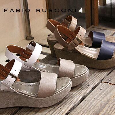 【 セール sale 】 FABIO RUSCONI サンダル CLO58V ファビオ ルスコーニ ウェッジ sandal 【 ファビオルスコーニ 】