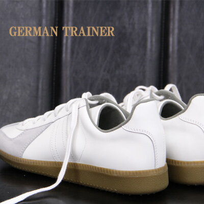 GERMAN TRAINER スニーカー sneaker 1183-S WHITE ジャーマントレーナー レザー ホワイト メンズ レディース 【 マルジェラ などの別注でお馴染みの ジャーマン トレイナー 】