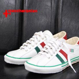 【あす楽】 【 期間限定特別価格 】 maccheronian 靴 WHITE/GREEN/RED マカロニアン 2215 スニーカー メンズ sneaker レザー