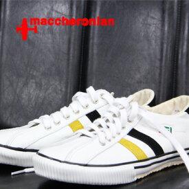 【あす楽】 【 期間限定特別価格 】 maccheronian 靴 WHITE/YELLOW/BLACK マカロニアン 2215 スニーカー メンズ レディース sneaker レザー