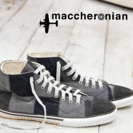 【あす楽】 【 セール sale 】 maccheronian 2208 PT PATCH WORK GERY mix マカロニアン スニーカー sneaker グレー ミックス メンズ レディース