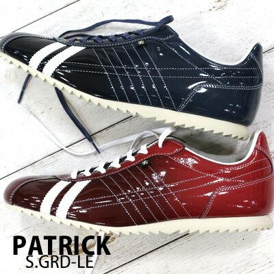 【あす楽】 【 spot カラー 】【 正規取扱店 】 PATRICK sneaker S.GRD-LE RED(530367) NVY(530362) パトリック シュリー グラデーション レザー スニーカー メンズ 【 アイリス パミール ネバダ に並ぶ人気】