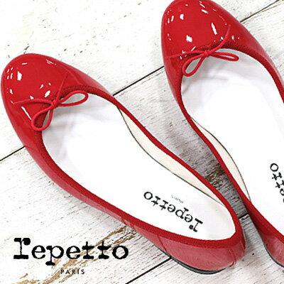 【あす楽】 【エナメル用クリーナー&ローション付き】【日本正規取扱店】 レペット バレエシューズ エナメル repetto Cendrillon VX086V Scala サンドリオン レッド 赤 靴 bb
