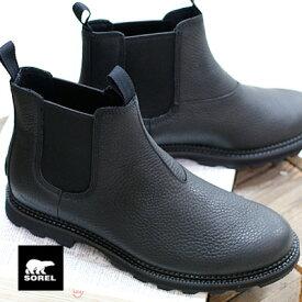 11/27新作 【あす楽】【正規品】 SOREL ブーツ メンズ MADSON CHELSEA WP NM3474-010 BLACK,BLACK ソレル スノーブーツ マドソンチェルシーWP MENS BOOTS