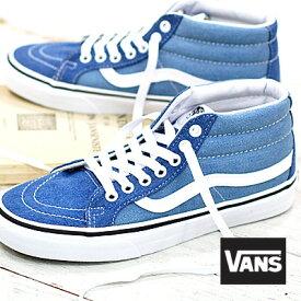【あす楽】 VANS SK8-MID Reissue (DENIM 2-TONE) BLUE/TRUE WHITE バンズ スケートミッド リイシュー レディース スニーカー VN0A3MV8Q69