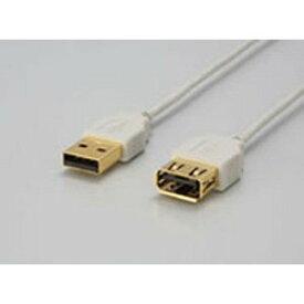 【中古】iBUFFALO Arvel USB延長スリムケーブル 2M ホワイト AUSE20WH