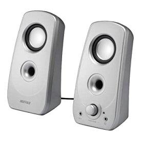 【中古】iBUFFALO 2.0ch マルチメディアスピーカー USB電源/ステレオミニプラグ音源 シルバー BSSP28USV
