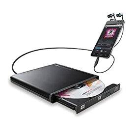 【中古】ロジテック CDドライブ スマホ タブレット向け 音楽CD取り込み USB2.0 Type-C変換アダプタ付 ブラック LDR-PMJ8U2RBK