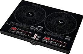 【中古】[山善] 2口IHクッキングヒーター IH調理器 1400W (幅56cmタイプ) YEH-1456-E [メーカー保証1年]