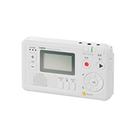 【中古】Logitec かんたん ポータブルICラジオレコーダー AMFM対応 予約録音 ワンタッチ録音・再生可 LIC-RR100