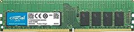 【中古】Crucial 16GB (DDR4 2933 MT/s PC4-23400 CL21 Single Rank x4 ECC Registered DIMM 288-Pin) Server Memory