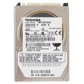【中古】【中古HDD】東芝 2.5インチ内蔵HDD 100GB MK1031GAS IDE/ATA100 (9.5mm/4200rpm/8MB)《データ消去&フォーマット済み》