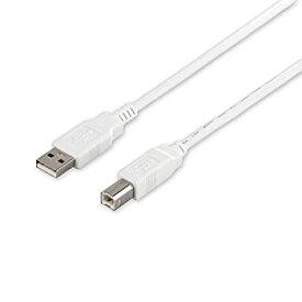 【中古】iBUFFALO USB2.0ケーブル3.0m ホワイト BSUAB230WH