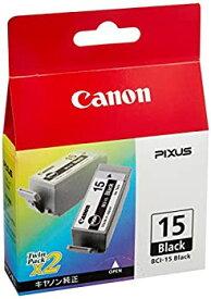 【中古】Canon 純正インクカートリッジ BCI-15 ブラック 2個パック BCI-15BLACK
