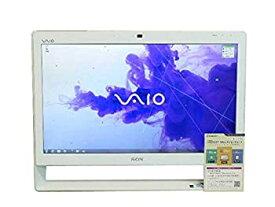 【中古】SONY デスクトップパソコン パソコン VPCJ226FJ ホワイト デスクトップ 一体型 本体 Windows7 Celeron DVD 地デジ 4GB/1TB