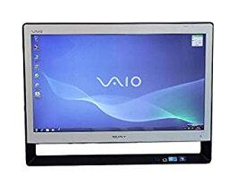 【中古】SONY デスクトップパソコン パソコン VPCJ127FJ ホワイト デスクトップ 一体型 本体 Windows7 Pentium DVD 地デジ 4GB/500GB