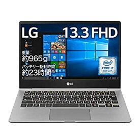 【中古】LG ノートパソコン gram 965g/Core-i7/13.3インチ/Windows 10/メモリ 16GB/SSD 512GB/Thunderbolt3/ダークシルバー/13Z980-NA77J