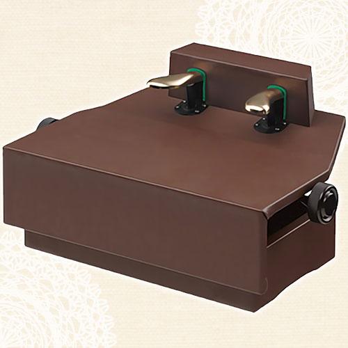 ピアノ補助ペダル(ネジ式高低両ハンドルタイプ)AX-100ウォールナット【メーカー直送】【メール便不可】