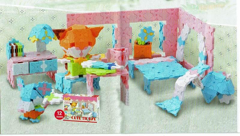 ラキュー・スイートコレクション・キュートハウス(LaQ・Sweet Collection・Cute House)造形ブロック