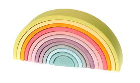 グリムス アーチレインボー・パステル(虹色トンネル)【送料無料】 木のおもちゃ ラッピング無料 出産祝い 2歳 3歳 4歳 おもちゃ