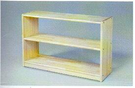 白木棚<小>背板なし 組立式 【ブロック社】*ラッピング不可、代金引換での配送不可*