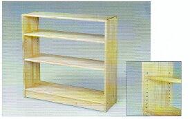 白木棚<大>可動式(棚板)・背板なし 組立式 ブロック社製 *代金引換での配送不可*