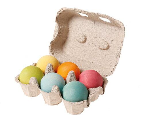 積み木 グリムス・木のボール・パステル Wooden Balls Pastel